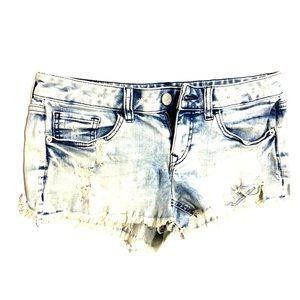Express Destroyed Jean Shorts